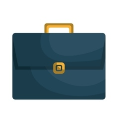 Blue briefcase isolated icon vector image