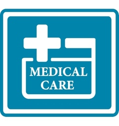 Blue medical icon for medicine industry vector