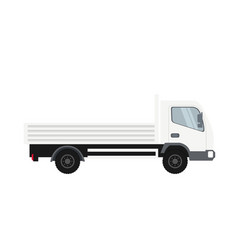 cargo truck in white color heavy traffic vehicle vector image