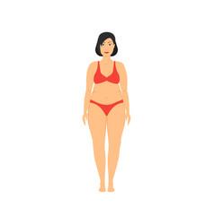 cartoon obesity weight loss vector image
