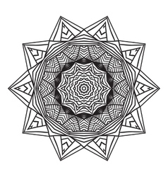 celtic knot pattern card mandala amulet vector image vector image