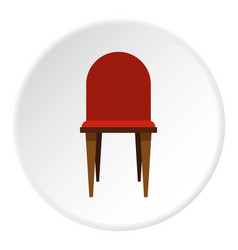 Chair icon circle vector