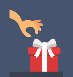 child wants to open a gift vector image