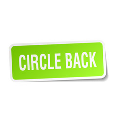 Circle back square sticker on white vector