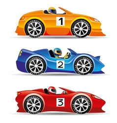 Colored sports cars vector