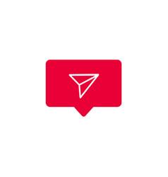 counter notification icon vector image