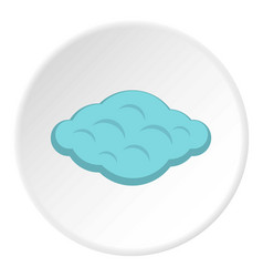 Curly cloud icon circle vector