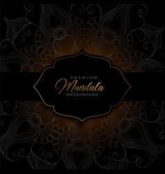 Dark premium mandala luxury pattern background vector