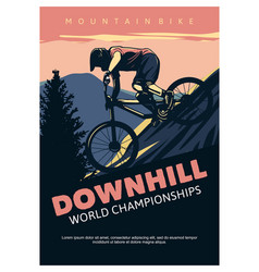 Downhill world championships poster design vector