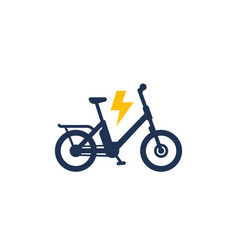 Electric bike icon electro bicycle or ebike vector