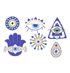 Evil eye collection vector