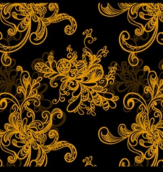 excellent seamless hand-drawen floral background vector image