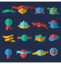 Flat Design Labels And Ribbons Set vector
