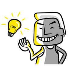 get new idea vector image