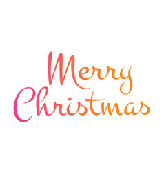 gradient isolated hand writing word merry vector image