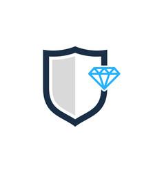 Guard diamond logo icon design vector