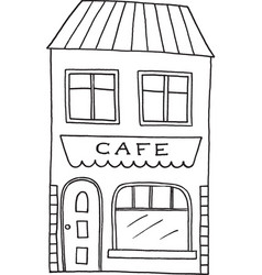 hand drawn old cafe vector image
