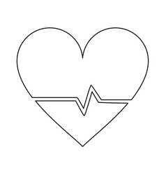 Heartbeat medical symbol vector