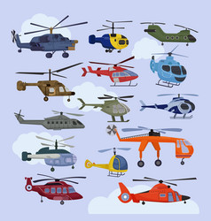 helicopter copter aircraft jet or rotor vector image