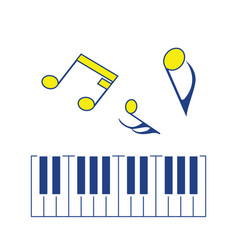 icon of piano keyboard vector image