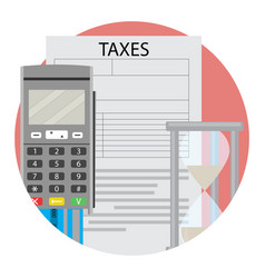 Icon time to pay taxes vector