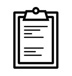 line clipboard icon vector image