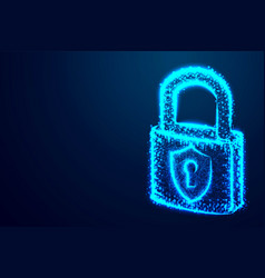 Lock security padlock keyhole cyber form lines vector