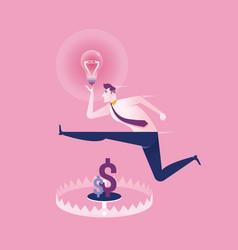 Money trap the idea business concept vector