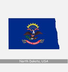 north dakota usa map flag vector image