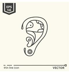 One icon Artificial ear vector image