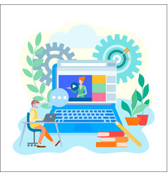online learning education internet courses vector image