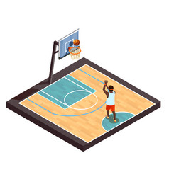 pickup ball isometric composition vector image