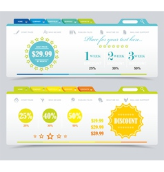 Price table summer sale vector