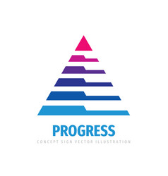 progress - business logo template abstract vector image