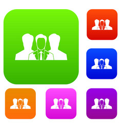 recruitment set collection vector image