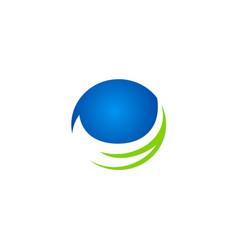 Round sphere ecology logo vector