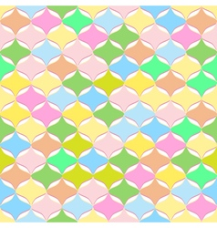 Seamless abstract geometric pattern pastel colors vector image