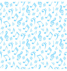 Seamless pattern with musical notes vector
