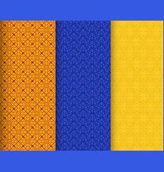 seamless thai silk texture with pattern vector image