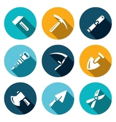 Set of Work Tools Icons Repair Mine vector