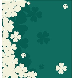 shamrock for St Patrick Day vector image