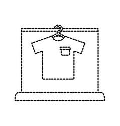 shirt hang laundry cleaning washing vector image