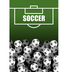 Soccer field and Ball Lot of balls football vector image