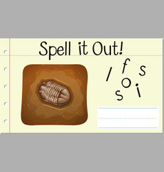 Spell it out fossil vector