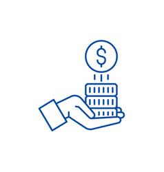 sponsorship money line icon concept sponsorship vector image