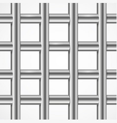 square iron cage prison or jail bars vector image