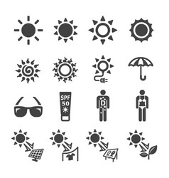 sunshine icon vector image