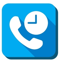Telephone Time Icon vector