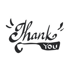 Thank you calligraphy isolated on white background vector
