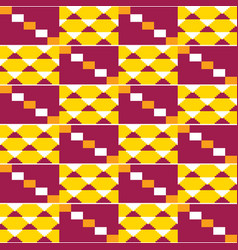 Tribal african repetitive design kente wedding dr vector